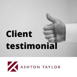 Ashton Taylor Mortgages Testimonial